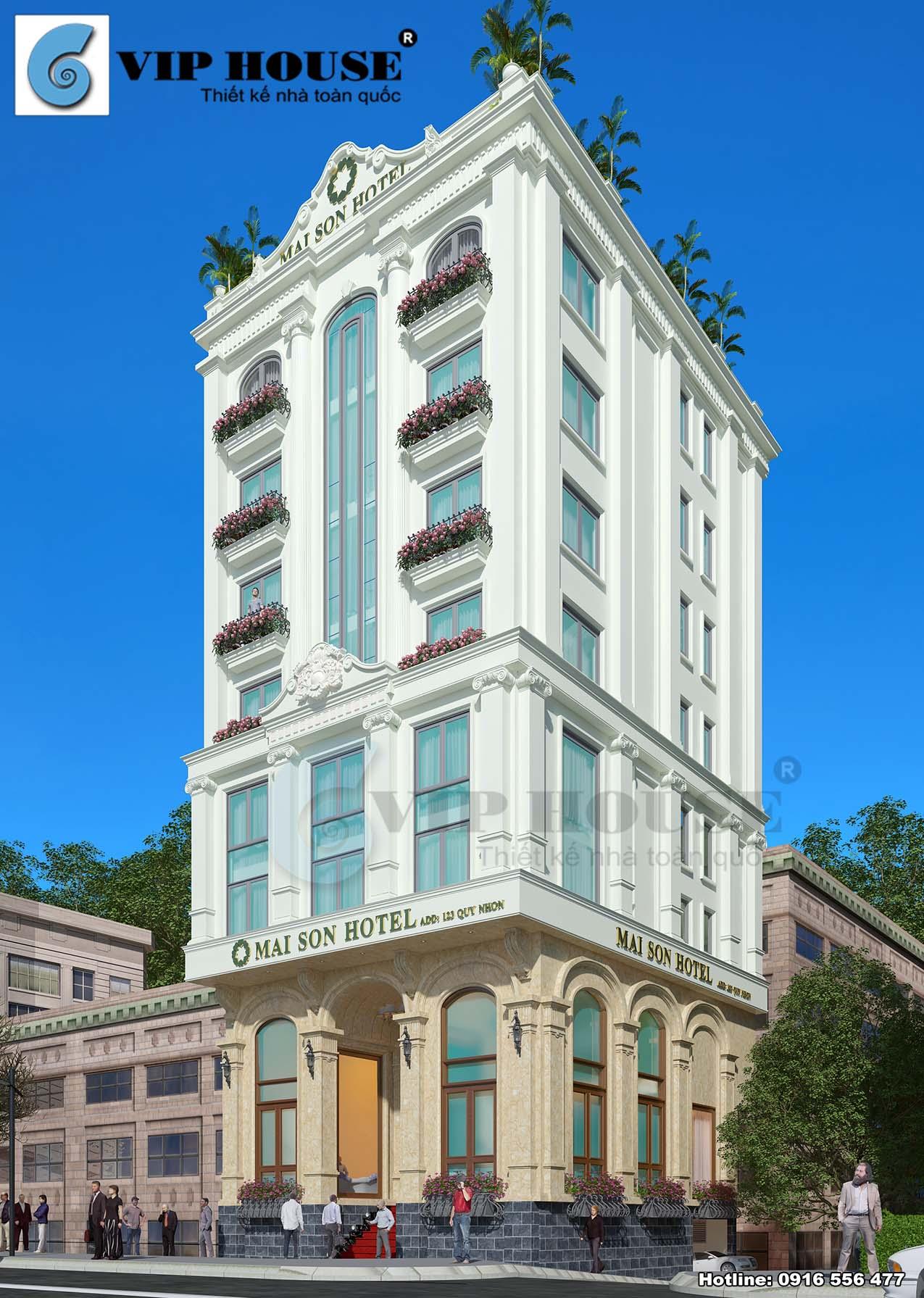 Hình ảnh: Những đường cong vòm bán nguyệt cổ điển làm cho thiết kế khách sạn 9 tầng thêm đẹp và độc đáo hơn