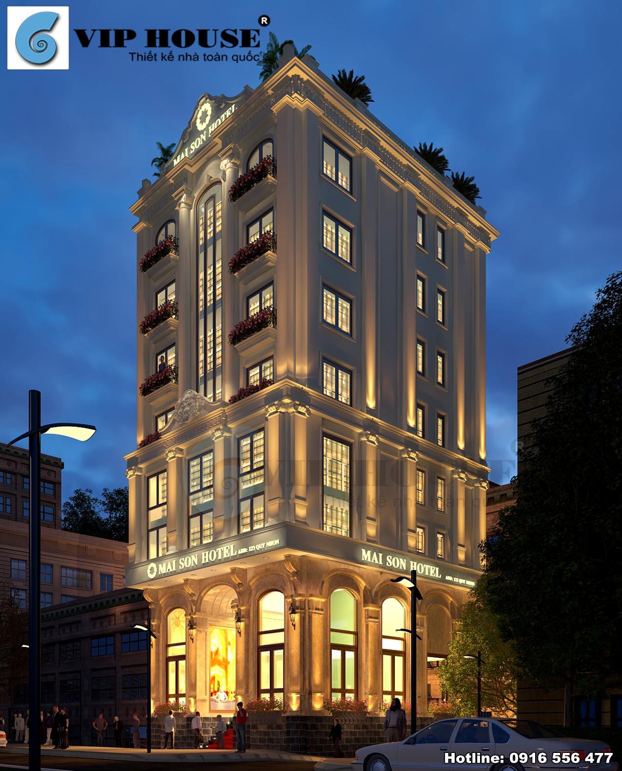 Hình ảnh: Phương án thiết kế khách sạn Mai Son Hotel tân cổ điển đẹp một cách toàn diện